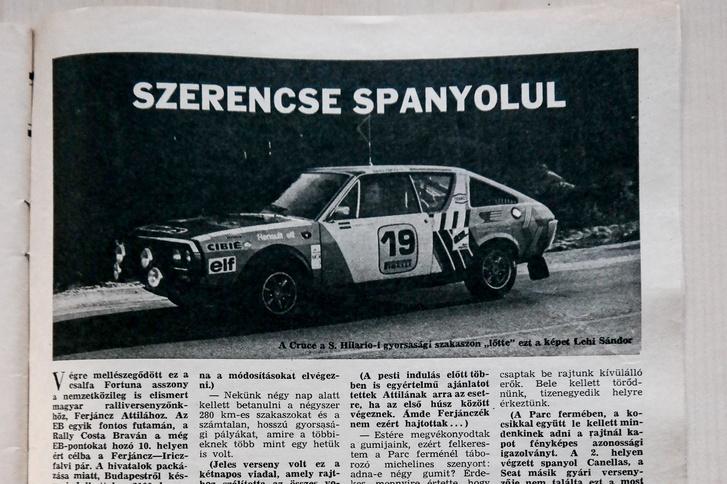 Két magyar bajnoki címet nyert Renault 17-esével Ferjáncz Attila, de külföldön is sikeres volt