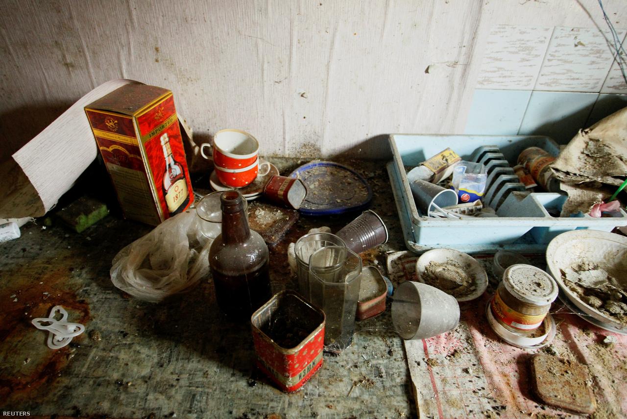 Elhagyott ház a repülőtér közelében. Nagy harcok nincsenek ugyan az ukrán hadsereg és a szeparatista erők között, de legalább 300 katona 2017-ben is meghalt. A repülőtérért 2015-ben folyó harcokban legalább 1700 ember halt meg, bár vannak becslések ennek tízszeresére is. A harcok mindenesetre a DNR győzelmével zárultak, bár a repülőtér teljesen megsemmisült. A légiközlekedés mellett a vasúti is megszűnt Donyeck és Ukrajna többi része között.
