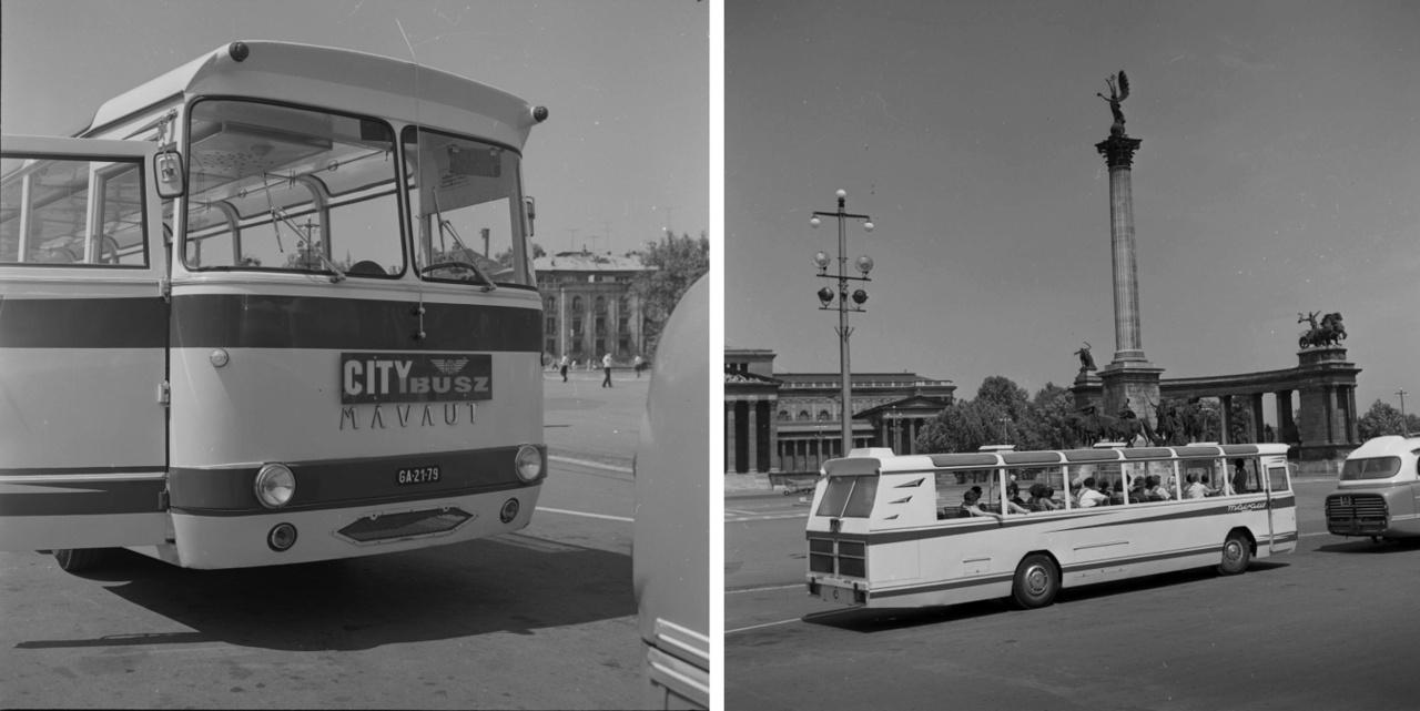 """A vidéki autóbusz-közlekedést szervező Autóközlekedési Vállalatok az 1950-es években megtartották a korábbi MÁVAUT elnvezést. A MÁVAUT budapesti javítóbázisai (Béke tér, Szabolcs utca, Andor utca) nem csupán szervizeléssel, de átépítéssel is foglalkoztak. 1964-ben egy balesetet szenvedett """"faros"""" Ikarus alapjaira városnéző buszt – MÁVAUT Citybus – készítettek."""