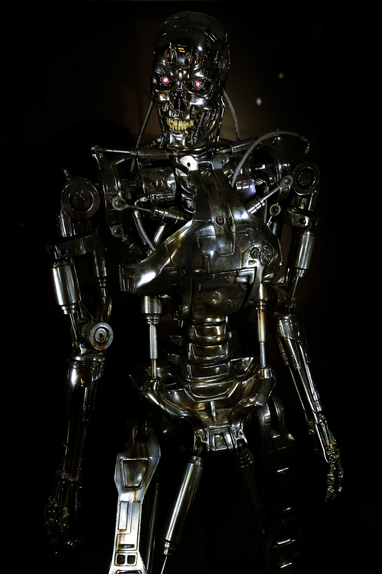 T-800-as halálosztó robot endoszkeletonja a Terminátor 2-ből.
