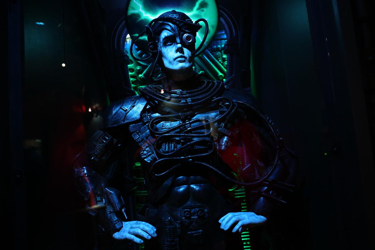 """Egy Borg a tévésorozatból (""""Regeneration"""")."""