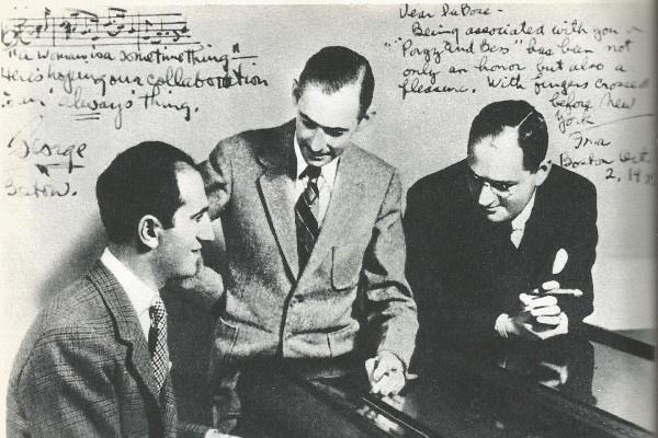 A három szerző (balról: George Gershwin, DuBose Hayward, Ira Gershwin)