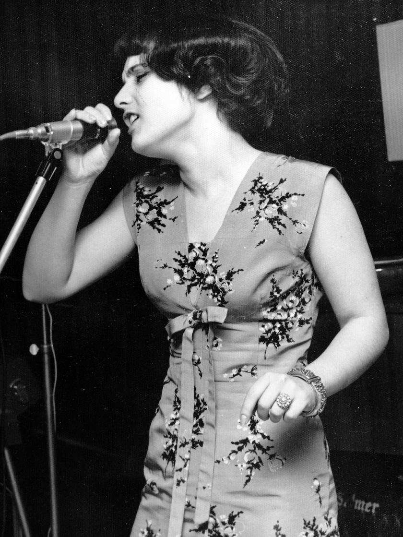 Wittek Mária, az Omega együttes énekesnője 1966-ban.