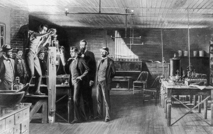 Edison a Menlo Park-i laboratóriumban