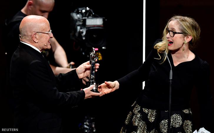 Julie Delpy az Európai Filmdíjak átadóján