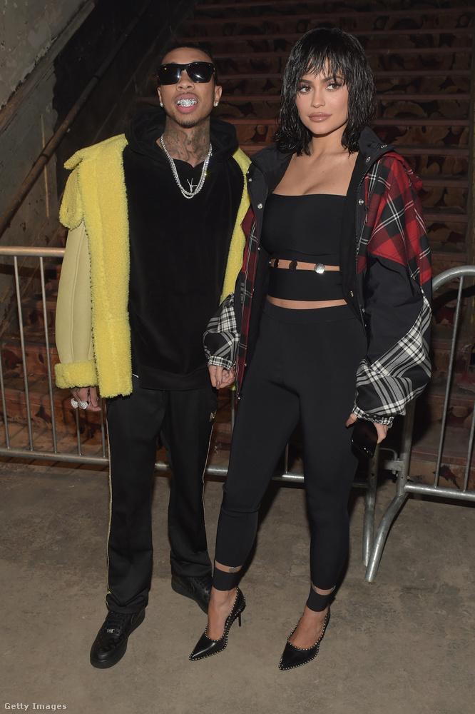 Kylie Jenner és exe, Tyga megjelentek pár divatbemutatón  a New York-i divathéten