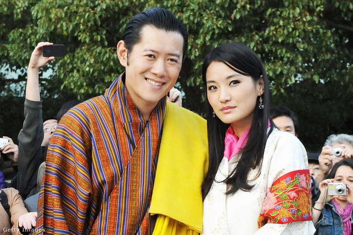 Dzsigme Keszar Namgyel Vangcsuk bhutáni király és felesége