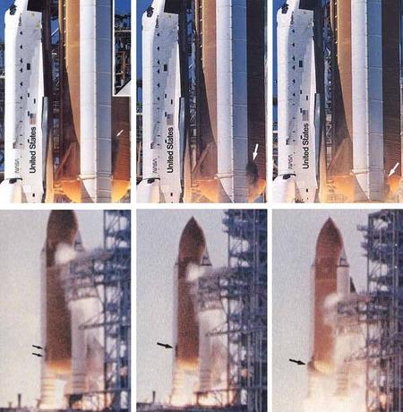 Füstpamacs a hibás gyűrűnél (kép: aerospaceweb.org)