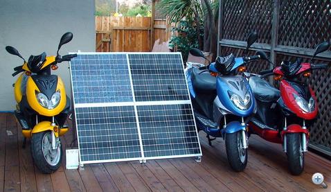 Villanyrobogók töltésére is alkalmas napelem-panel Kínában