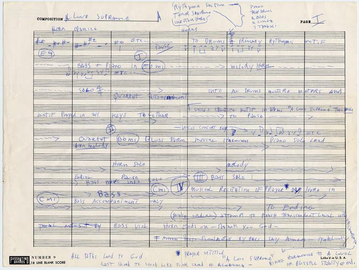John Coltrane: A Love Supreme (kézirat)