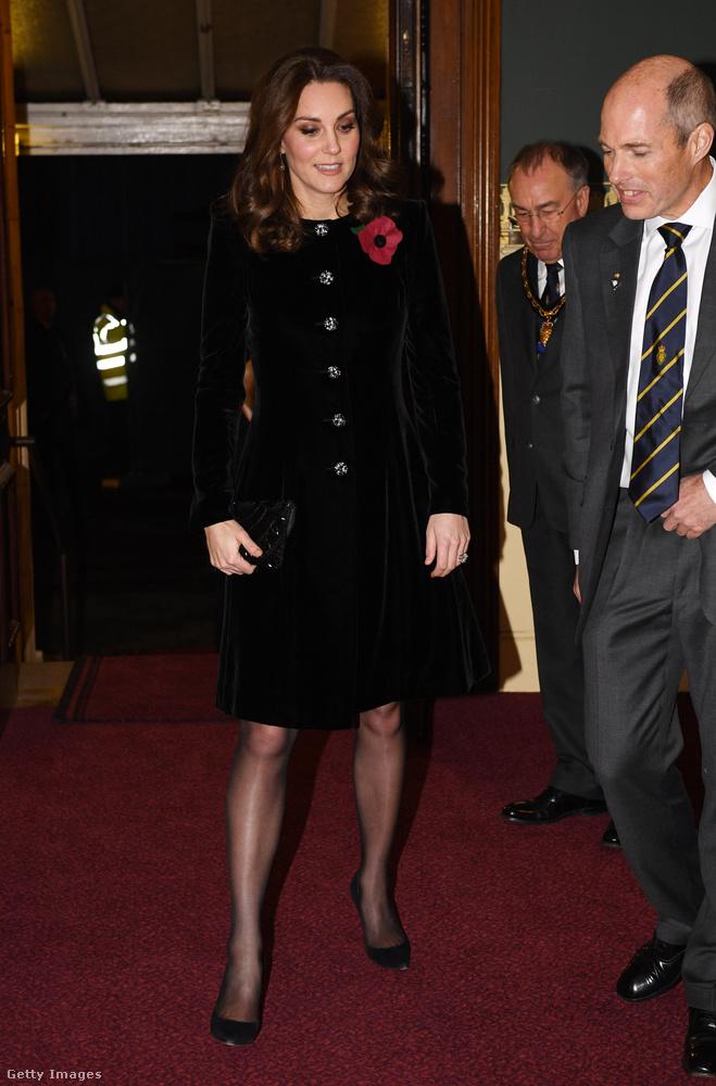 Ez a bársony Catherine Walker kabátruha 2675 dollárba, kb