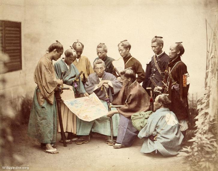 A császári oldalon harcoló szamurájok