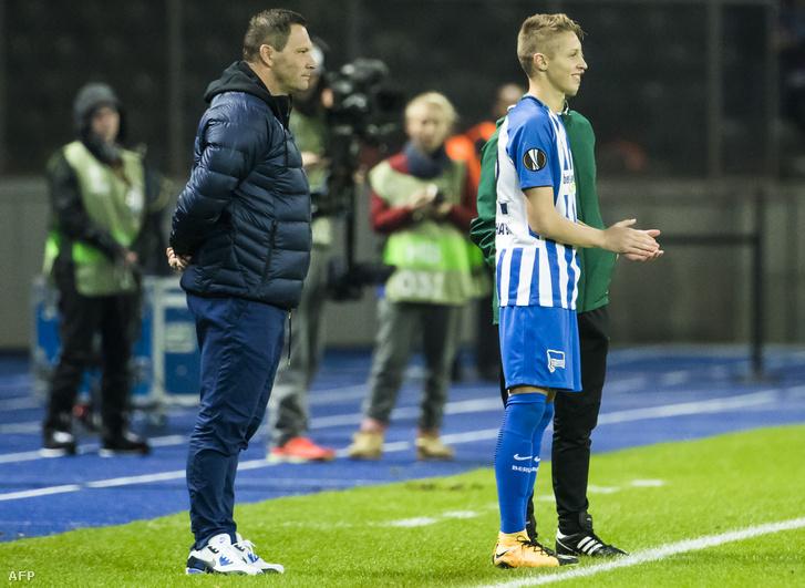 Dárdai Pál és fia, Dárdai Palkó a Zorja elleni Európa Liga-meccsen