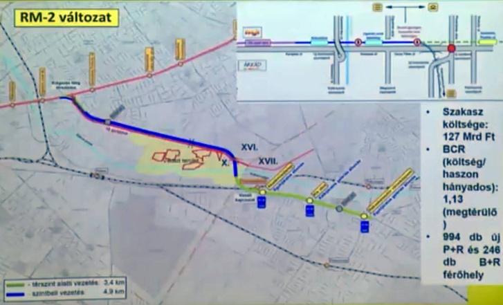 A rákoskeresztúri metró tervei (Forrás: Rákosmenti pirítós Fb-oldal)