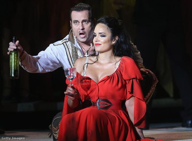 Gaelle Arquez Carmen szerepében a Bregenz Festspiele Carmen-előadásán 2017 júliusában