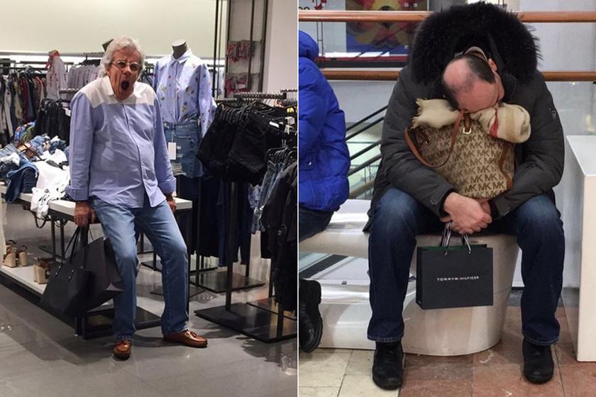 A próbafülkében volt a nő, utána így találta a férjét - 10 férfi, aki rosszul viselte, amikor a párja vásárolt