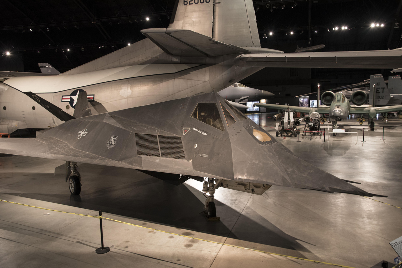 2017. március 2. Lockheed F-117A Nighthawk a légierő múzeumában.