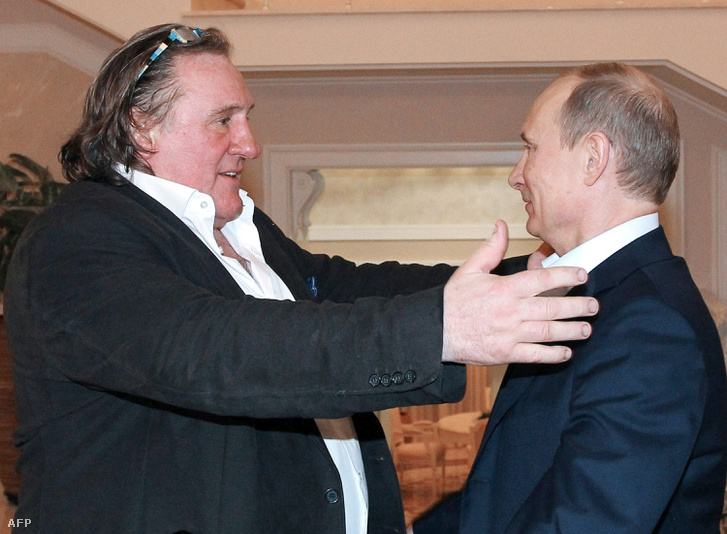 Gerard Depardieu és Vlagyimir Putyin