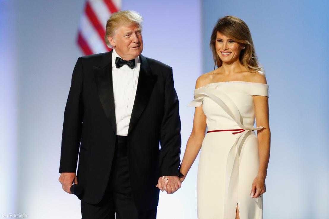 Donald Trump és Melania Trump a beiktatási estélyen