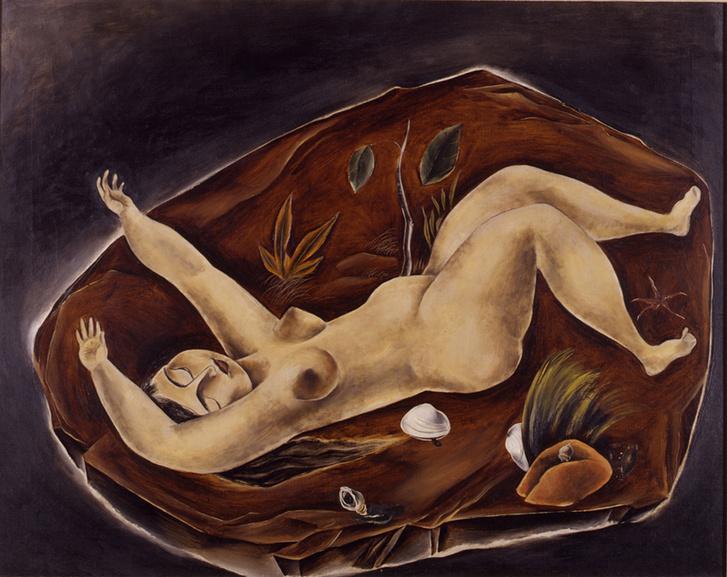Yasuo Kuniyoshi képen erős, önálló nők szerepelnek, akik semmi sem veszítenek nőiességükből (A boldogság szigete, 1924).
