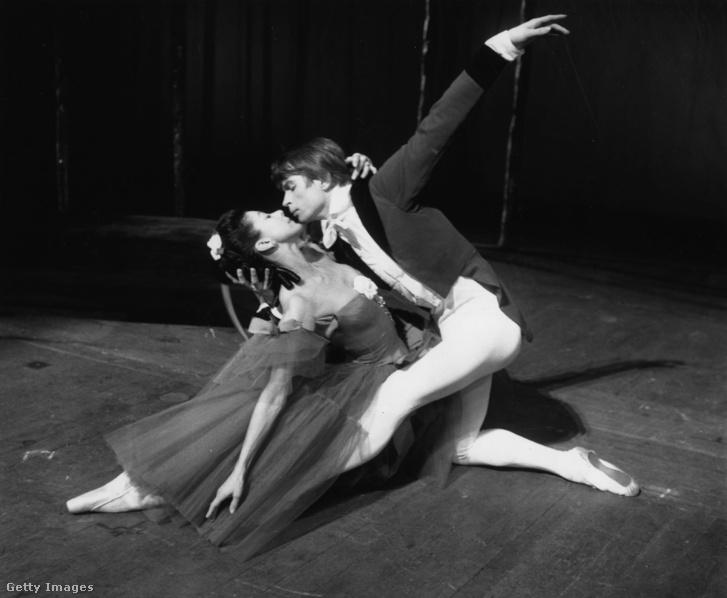 Rudolf Nurejev és Margot Fonteyn a Marguerite és Armand próbáján