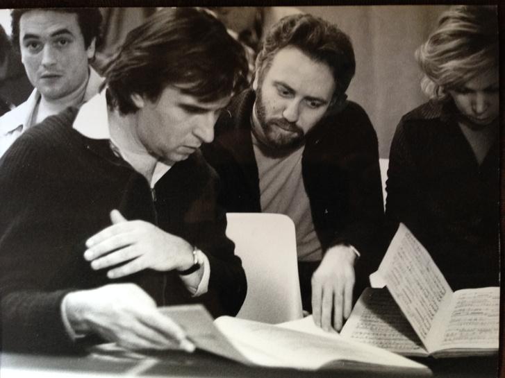 José Carreras, Claudio Abbado, Riccardo Chailly és Mirella Freni