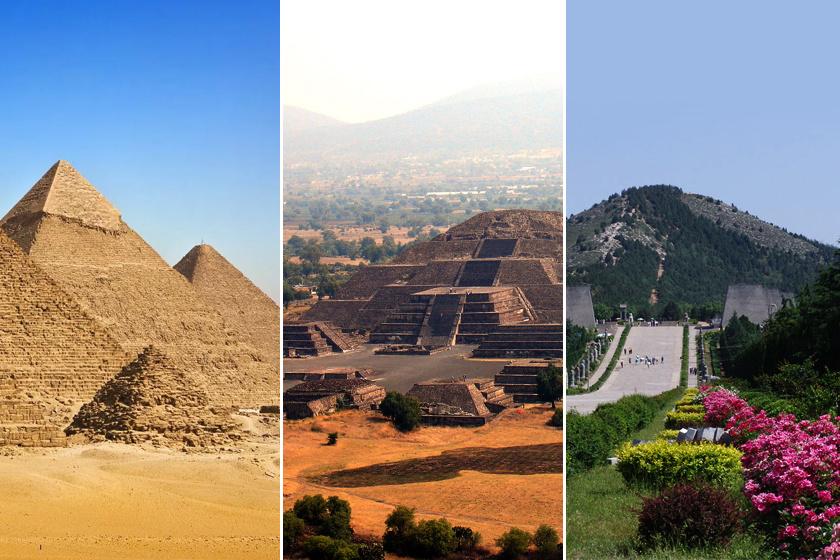 Egyiptom, Teotihuacan és Kína piramisai