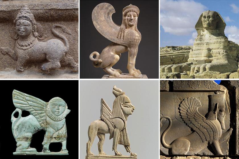 Szfinxek különböző kultúrákból