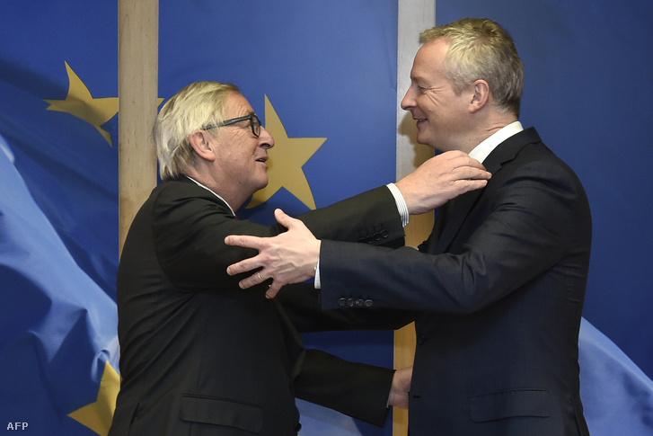 Jean-Claude Juncker és Bruno Le Maire