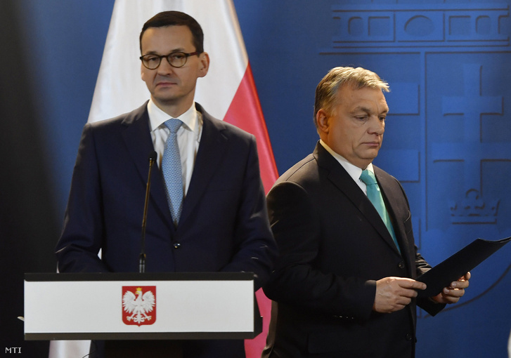 Orbán Viktor miniszterelnök és Mateusz Morawiecki lengyel kormányfő Budapesten 2018. január 3-án