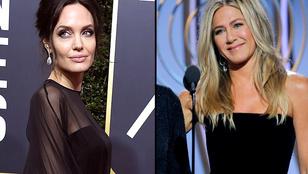 Rég várt pillanat: Brad Pitt két exe, Angelina Jolie és Jennifer Aniston egyszerre voltak jelen a Golden Globe-on