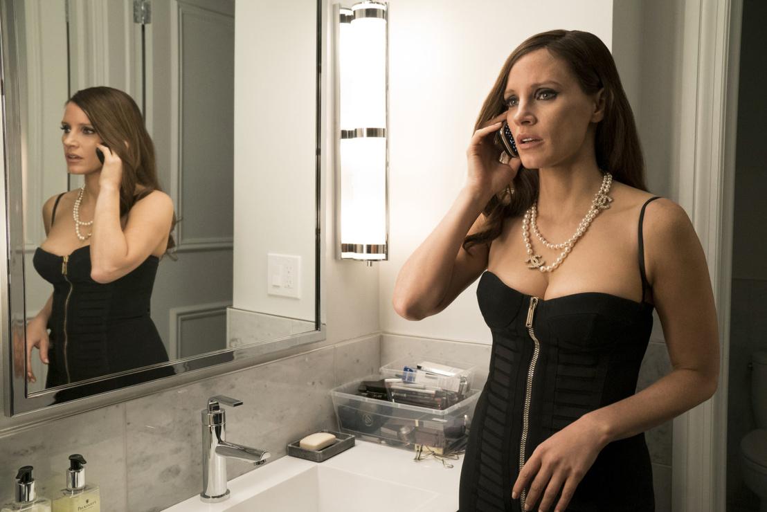 Jessica Chastain az Elit játszma egyik jelenetében