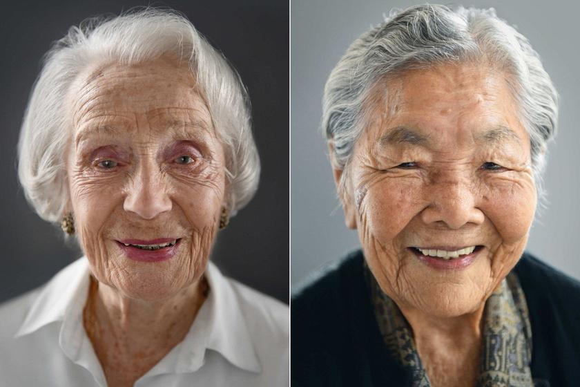 100 évesek és gyönyörűek - Különleges fotósorozat az öregedés szépségéről