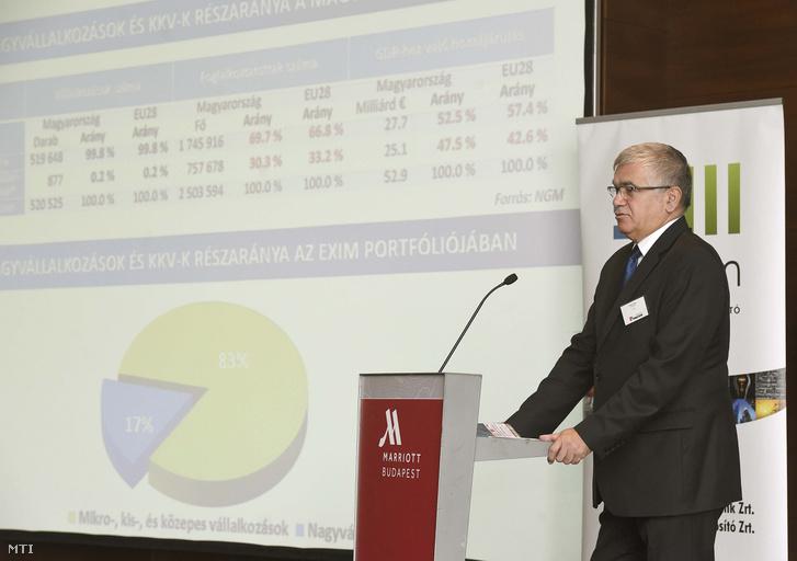 Urbán Zoltán a Magyar vállalatok családi vállalatok avagy hogyan legyünk sikeresek? című konferencián Budapesten 2017. szeptember 28-án