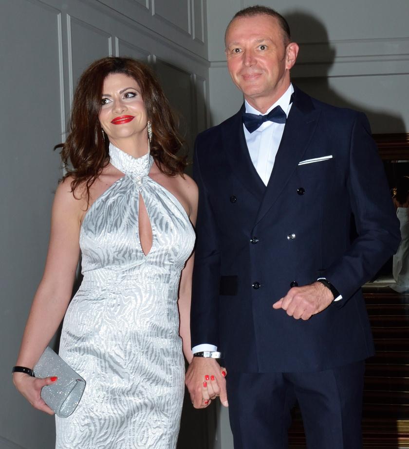 Győrfi Pál és felesége, Adrienn a 2017-es Story-gálán.