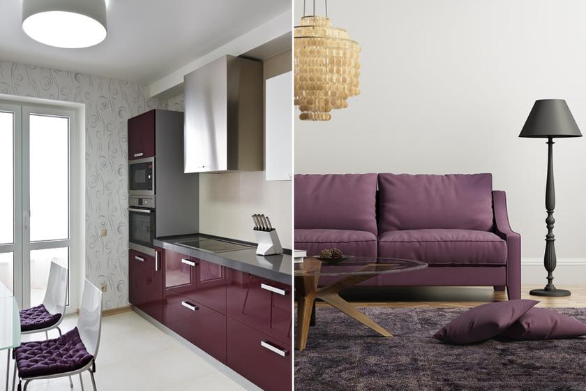 Padlizsánszín a konyhába: bámulatosan feldobja a belső tereket