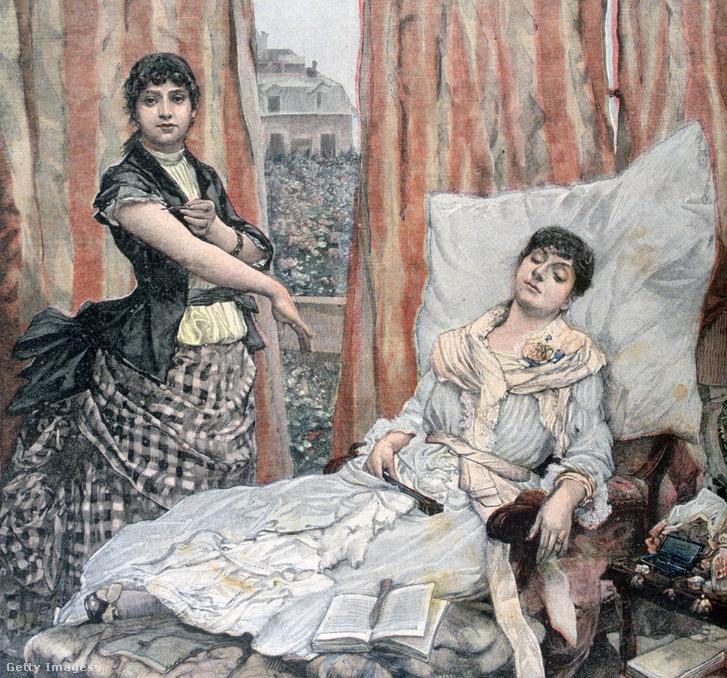Morfinista nő Henri Meyer képén