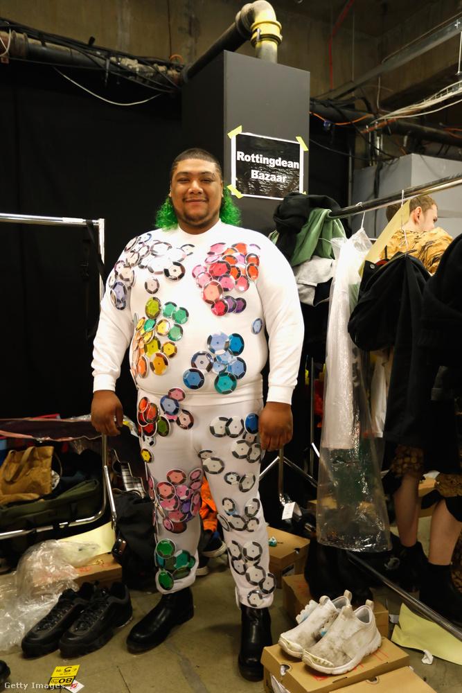 Egy másik plus size férfimodell a Rottingdean Bazaartól.