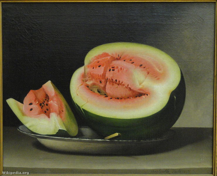 Still Life with Watermelon, Raphaelle Peale, 1822