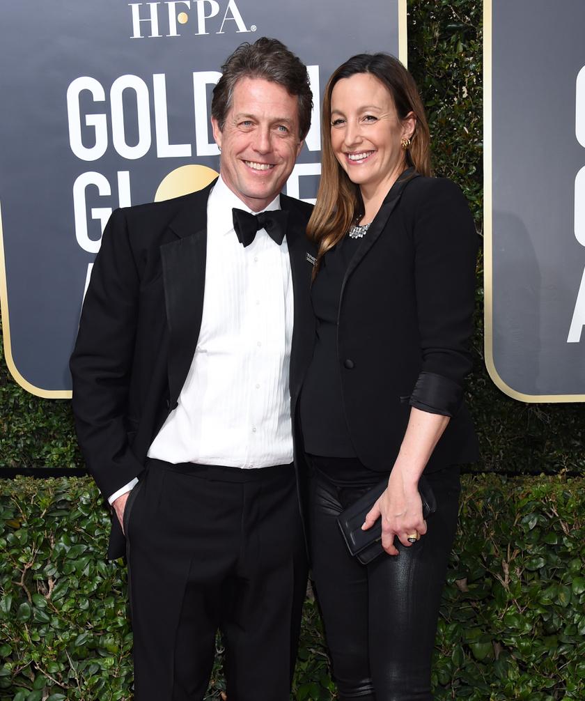 Hugh Grant és Anna Eberstein a hétvégi Golden Globe-on