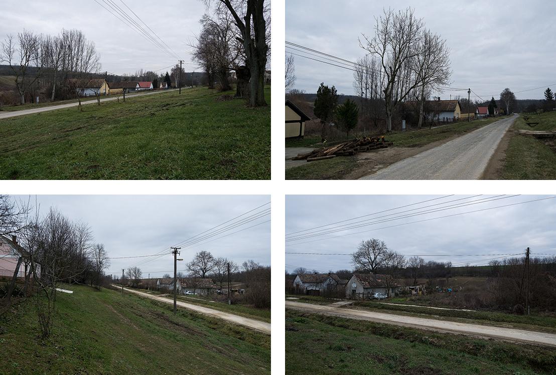 Somogyvár, Petőfi utca, egy-egy telek a felső és alsó sorban