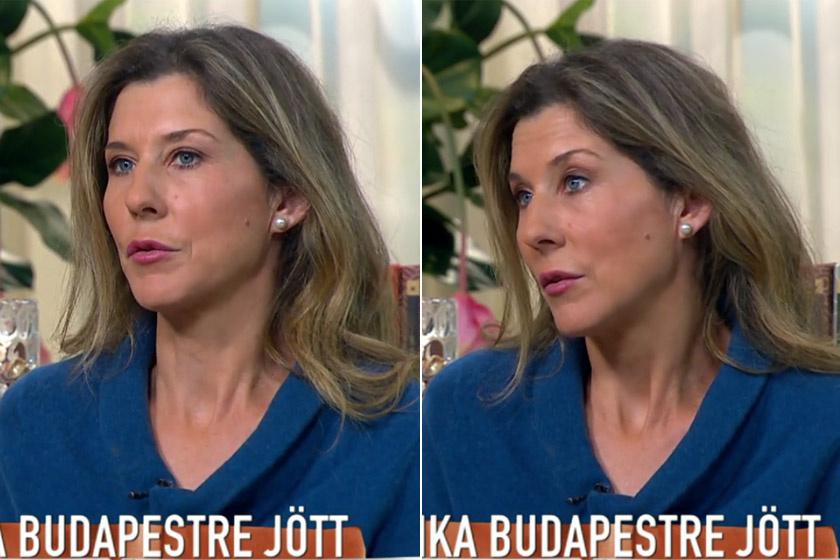Az egykori világelső teniszező, Szeles Mónika ma reggel a TV2 Mokka című műsorában.