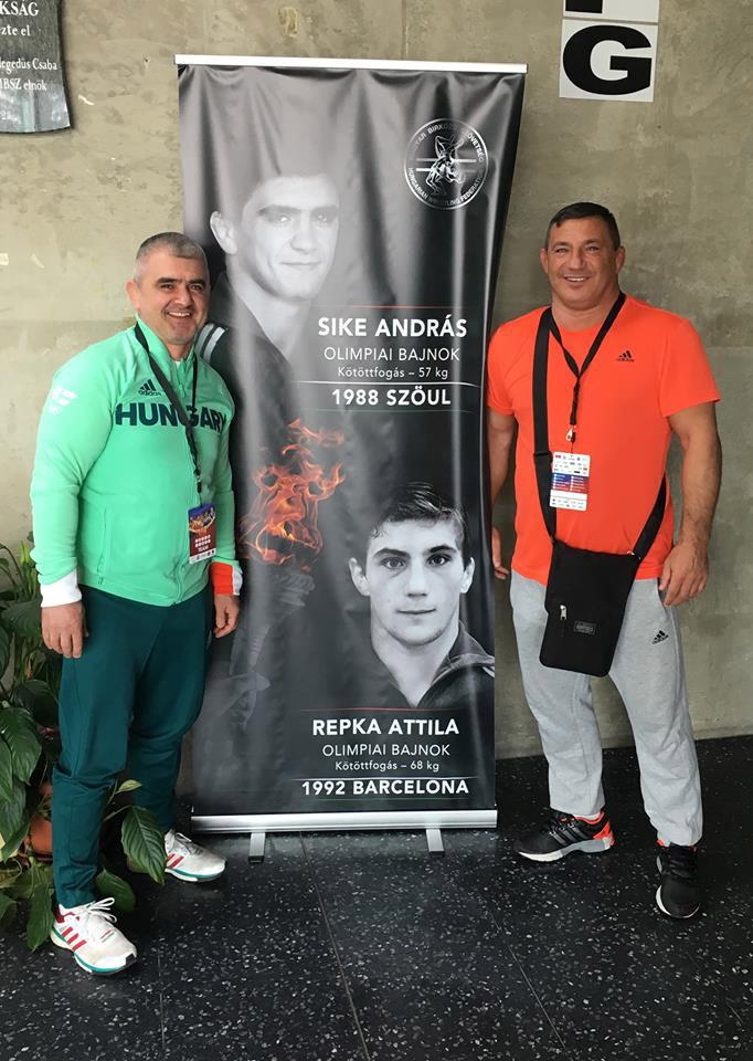 Sike Andrással, az 1988-as szöuli olimpia magyar bajnokával 2017 tavaszán a szombathelyi Arena Savariában.