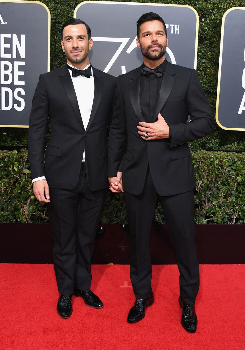 Ricky Martin és Jwan Yosef a hétvégi Golden Globe-gálán