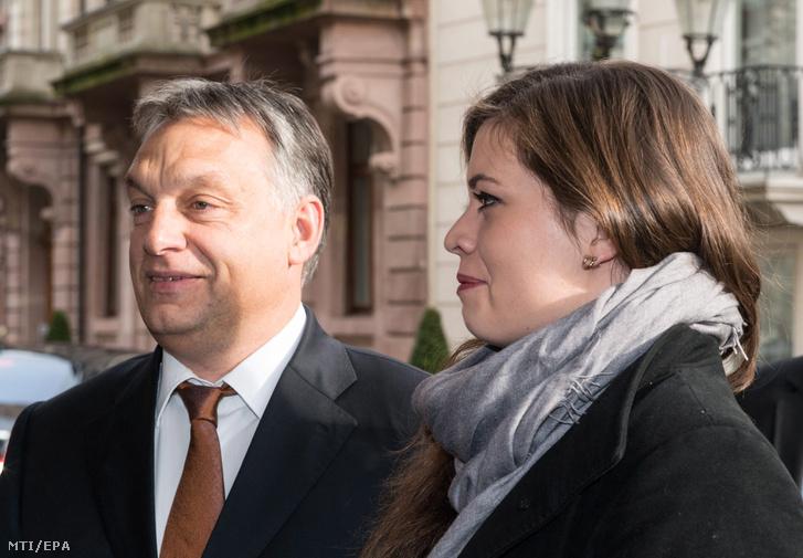 Orbán Viktor és lánya, Sára 2014-ben