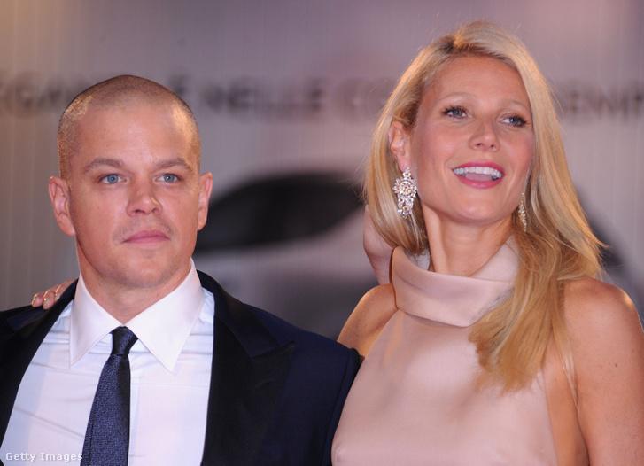 Matt Damon és Gwyneth Paltrow 2011-ben a Fertőzés című film bemutatóján