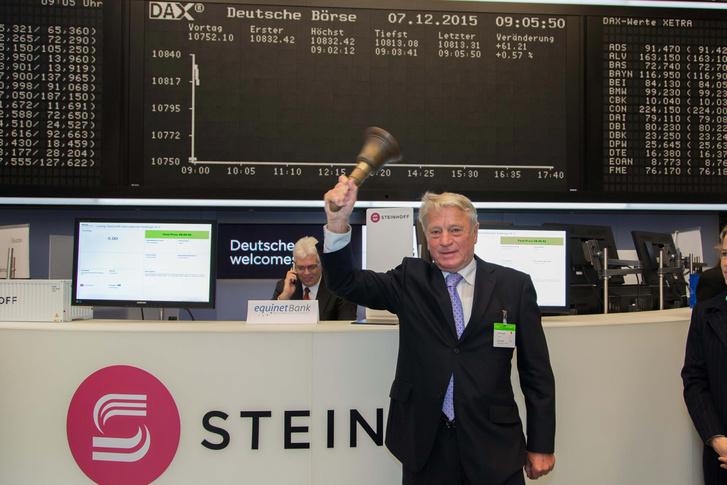 Bruno Steinhoff a cég frankfurti tőzsdei bevezetésekor