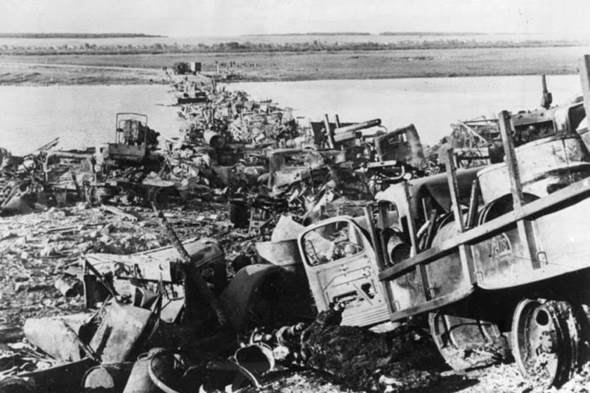 Veszteségek a harcok után a Don partján, 1942.