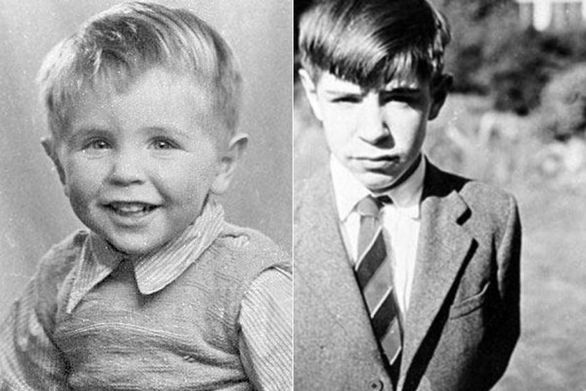 Stephen Hawking kisgyerekkorában. Tipegőként angyali arca volt. Érdekes, hogy kisiskolásként a rossz tanulók közé tartozott, olvasni is csak nyolcévesen tanult meg.