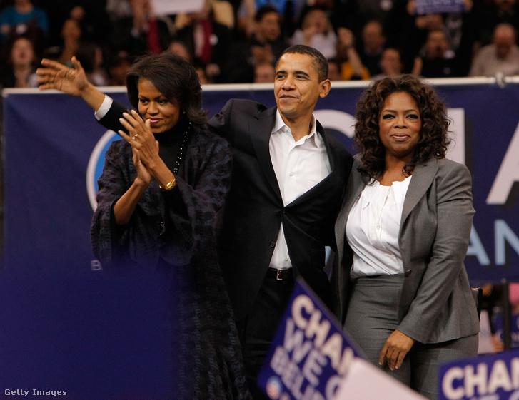 Az Obama házaspár Ophrával 2007-ben